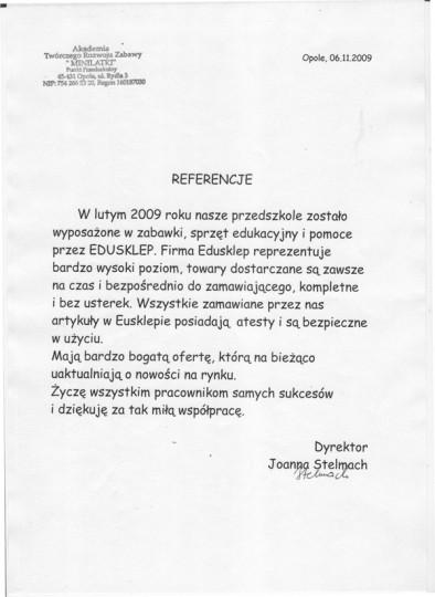 referencje minilatki edusklep.pl pomoce dydaktyczne