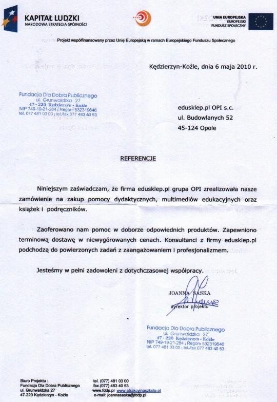 Fundacja Dla Dobra Publicznego referencje 06052010