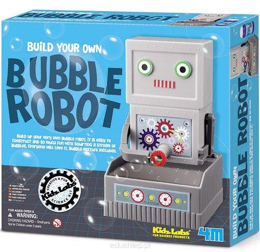 Robot puszczający bańki mydlane