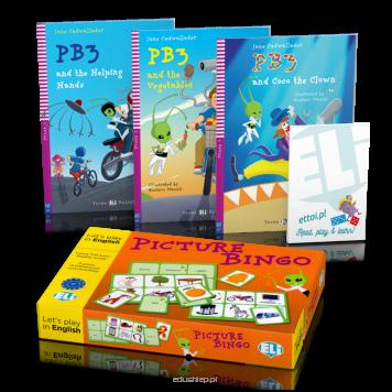 Pakiet Read, play & learn - Czytaj, graj i ucz się: PB3 + gra Picture Bingo - język angielski